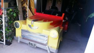 Frontside of grease Car